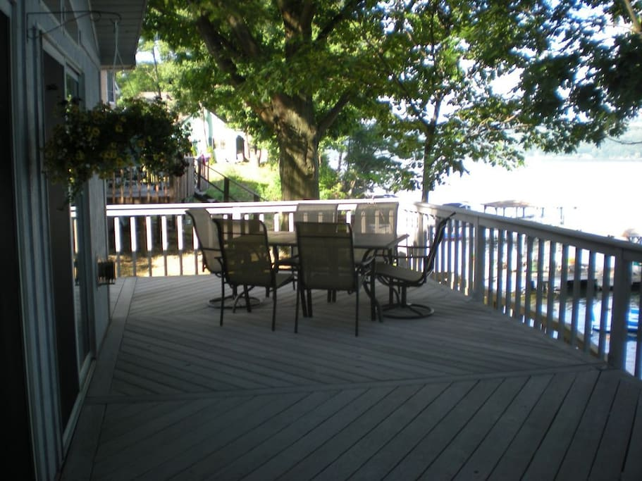 Spacious deck with great views