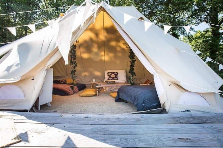 Tente Bohème pour 4 pers près de la Salvetat/Agout