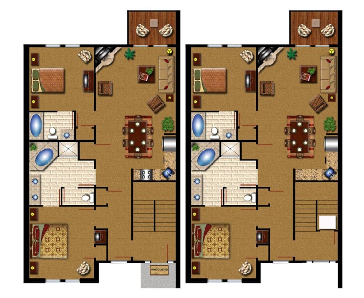 Historic powhatan resort 3 bedroom floor plan gurus floor for Historic floor plans