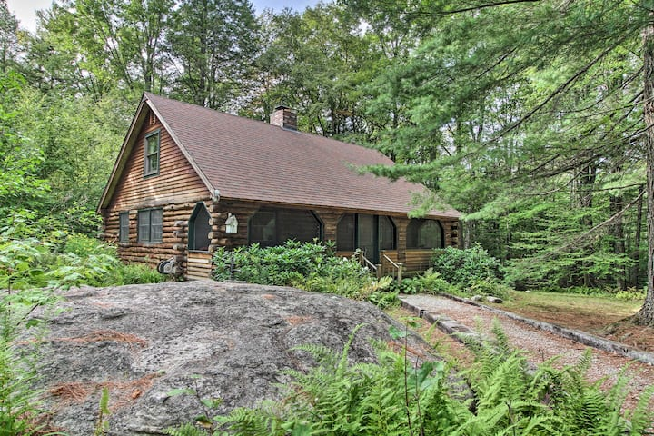 NEW! Secluded Cabin w/ Fire Pit, 8 Mi to Okemo Mtn