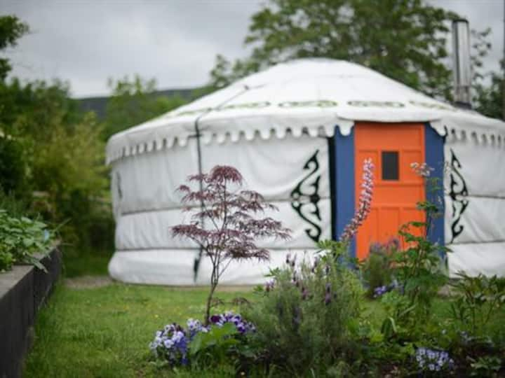 Mongolian YURT in Medicinal Magical Garden.