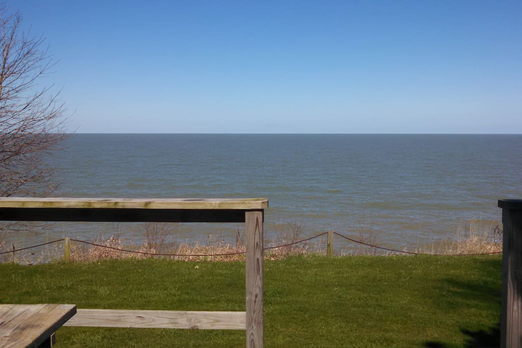 View of Lake Erie from deck