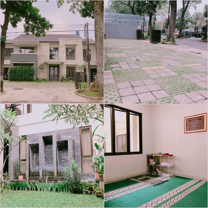 Entrance, Parking Space, Backyard, Musholla (Islamic Prayer Room)