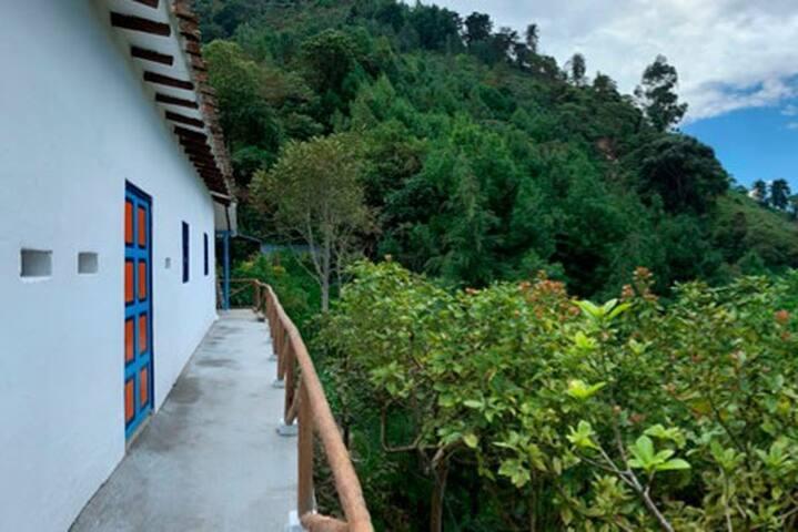 Casa colonial Montaña de Sueños en las montañas.
