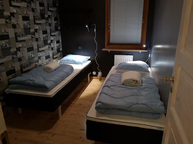 3 die soveværelse m/2 enkeltsenge