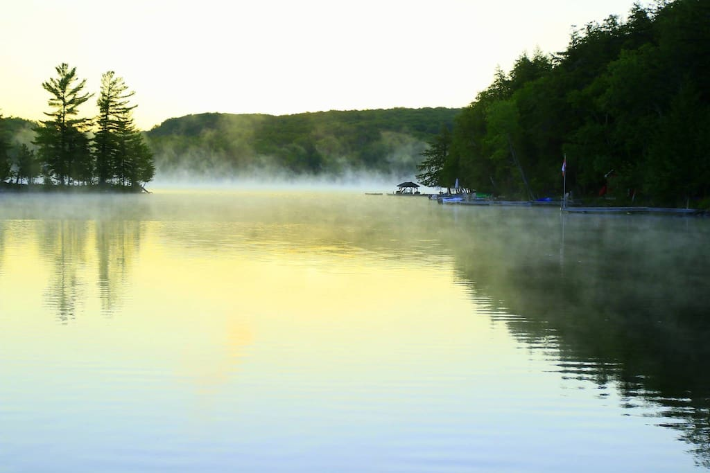 Early morning mist on the lake.