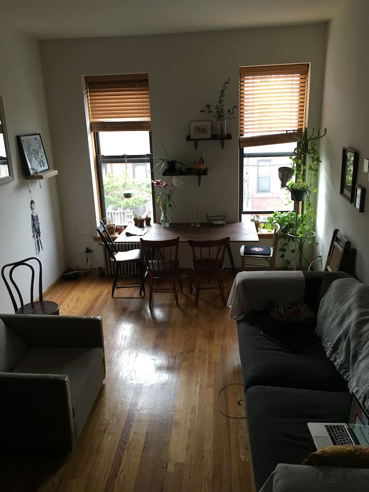 An updated photo of the living room