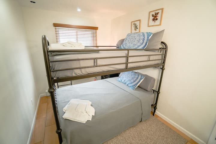 Bedroom 2 with Full Size Bunk Beds