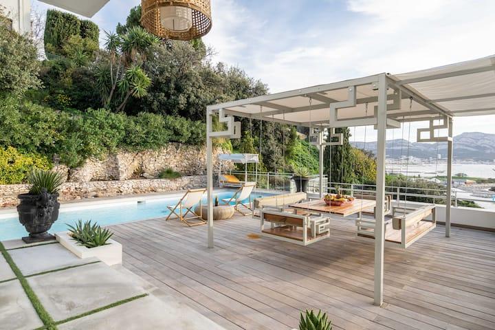 Villa Alba : Luxe, Piscine et Superbe Vue Mer