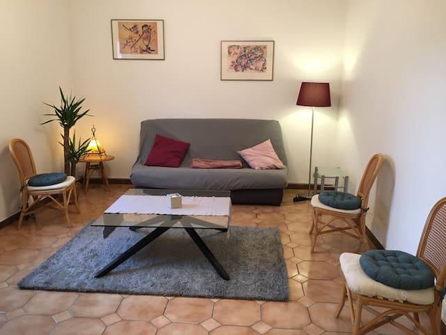 meublé 3 pièces calme + jardin