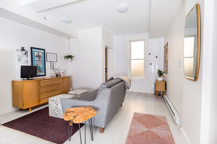 Living room + entryway