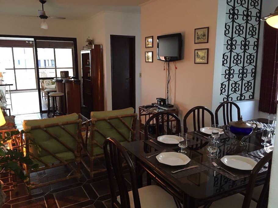 sala de jantar e visitas