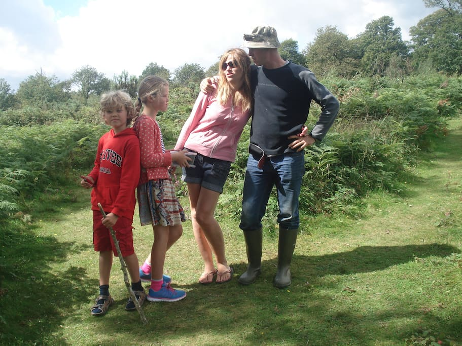 Our family out and about on beautiful Dartmoor