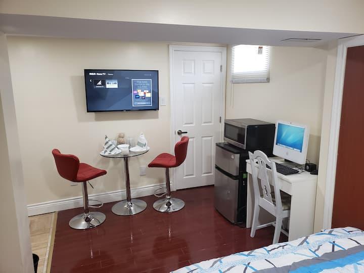Cozy Basement Studio Apt. with a Private Entrance