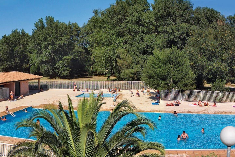 Splash around in the seasonal outdoor pool!
