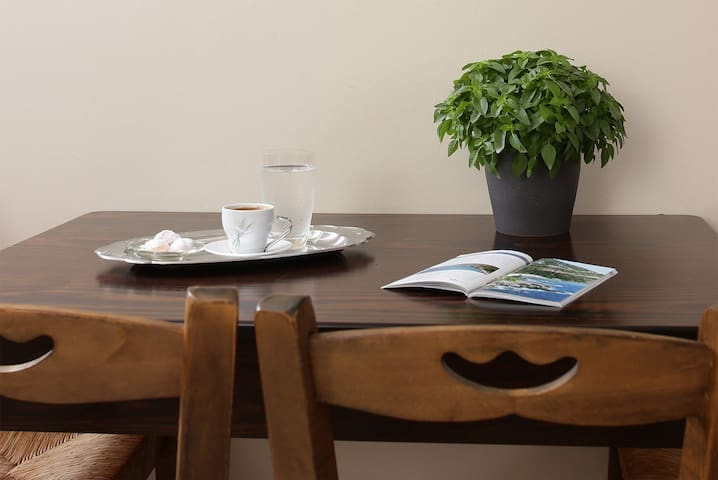Greek coffee, loukoumaki and cool water !!! Welcome!!!!