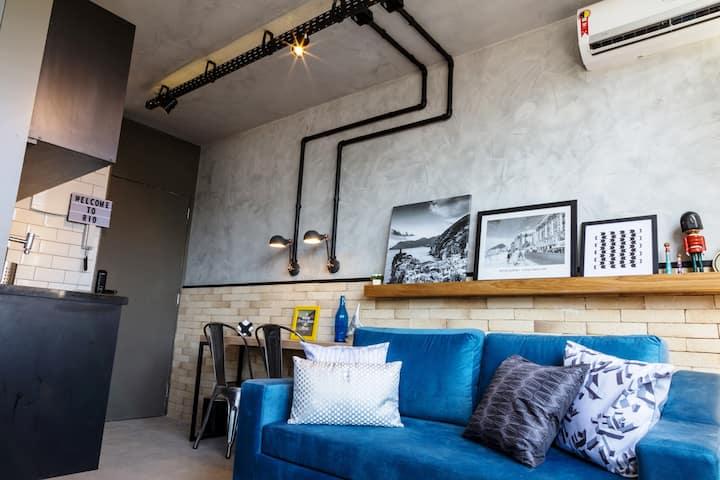 Loft Design Copacacana /Vista Mar/ 100%Climatizado