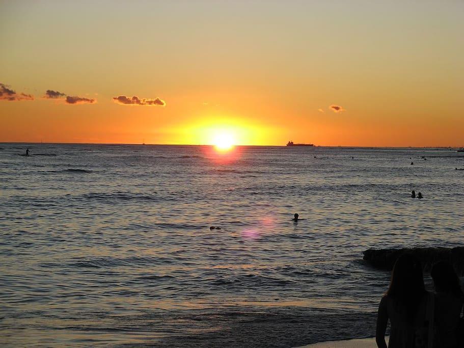 The condo is located heart of Waikiki !!! Its so beautiful Waikiki beach