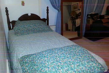 Single bed, Comfortable and quiet. Roomy. - Corpus Christi