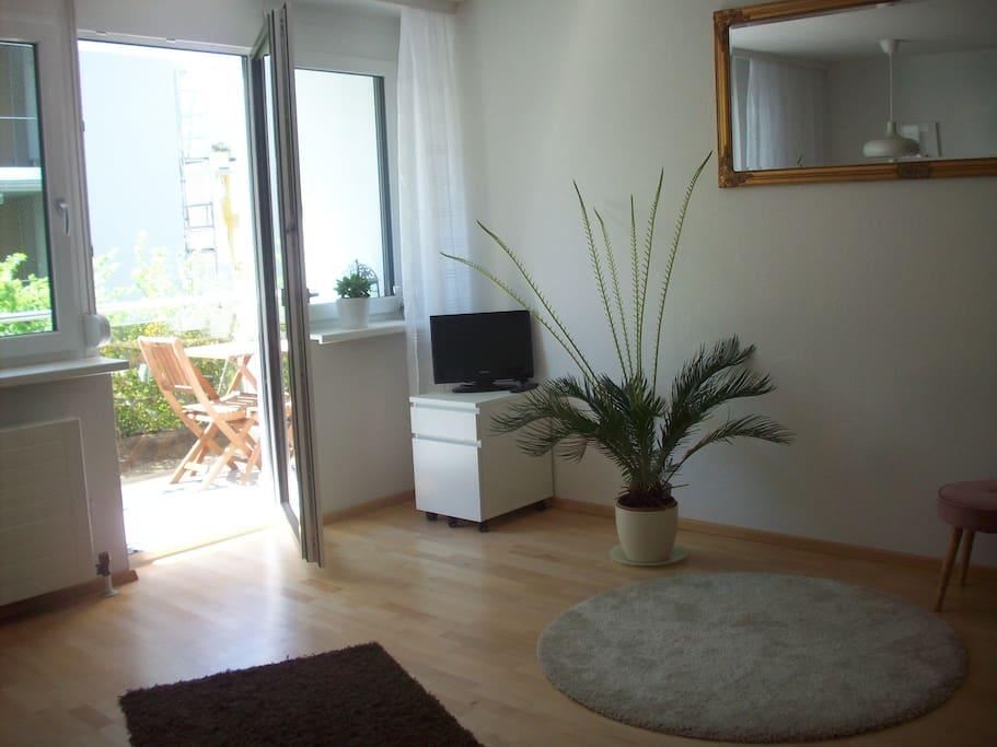 Wohnraum mit Sonnenbalkon