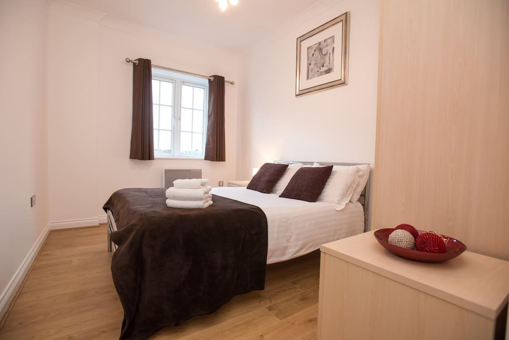 The images provided are of one of a number of apartments we have within Riverside House and so while your apartment may not be identical to the apartment shown, the images provided offer a very accurate representation of the standard and décor of all our apartments.2nd bedroom