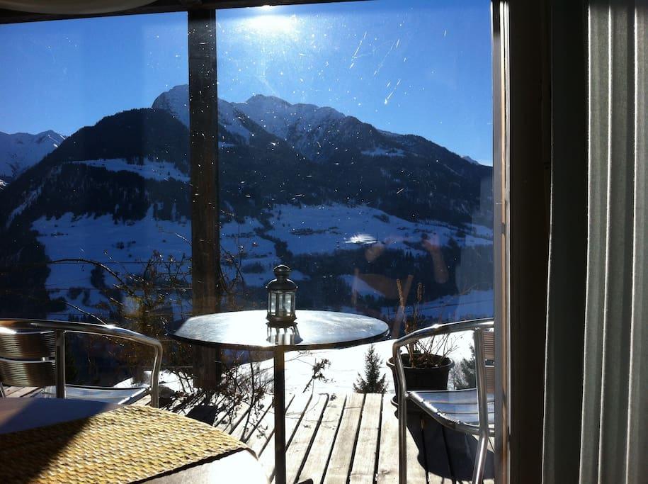 Winterview from breakfast table