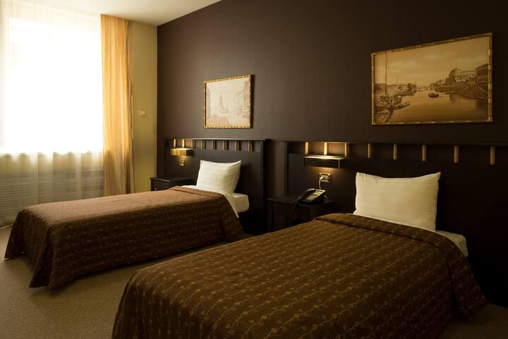Двухместный номер Комфорт с двумя раздельными кроватями