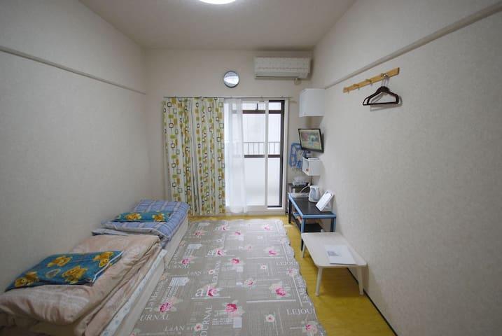 지하철역에서 230미터 17㎡!현지인의 원룸! - Higashi Ward, Fukuoka - Apartament