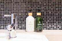 Bathroom essentials are supplied for your convenience.