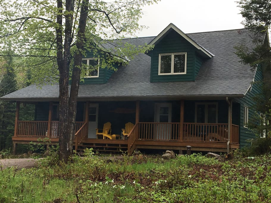 Right side cottage rental; view facing the lack
