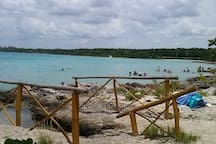 Playa y para buceos y snorkel