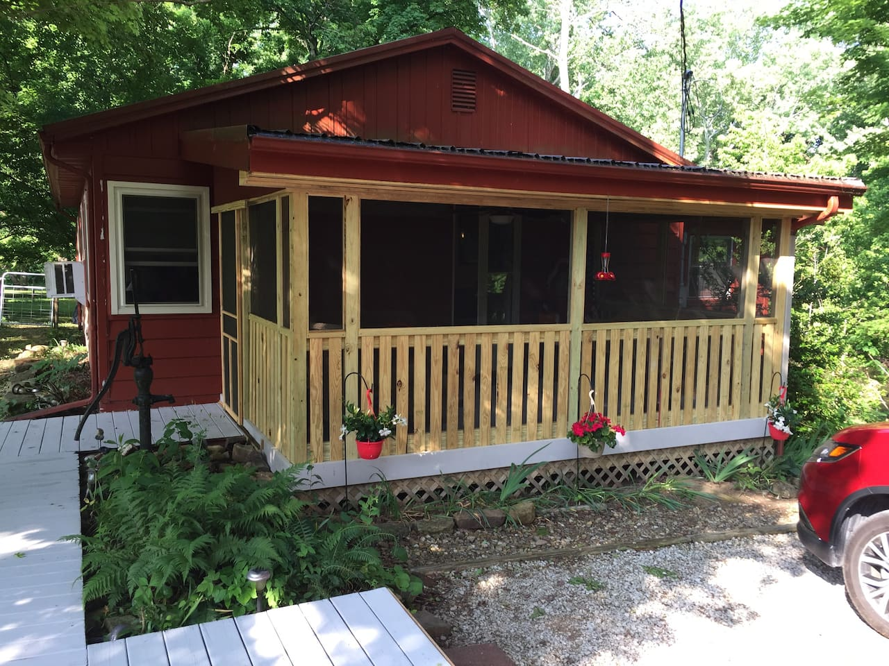 Blue River Cabin Front Porch