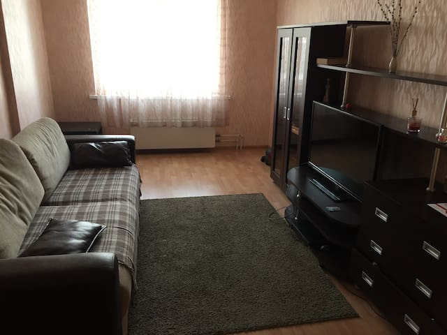 Гостиная с диваном-кроватью