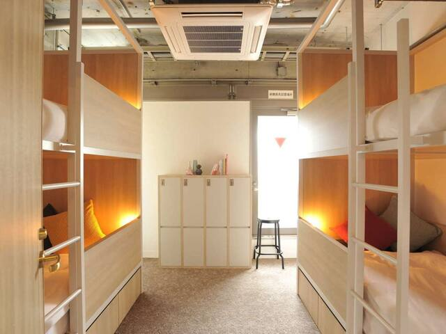 【Easily accessible】CAFETEL KYOTOSANJO for Ladies(4beds Dormitory Room with Shared Bathroom/Free Wi-Fi)