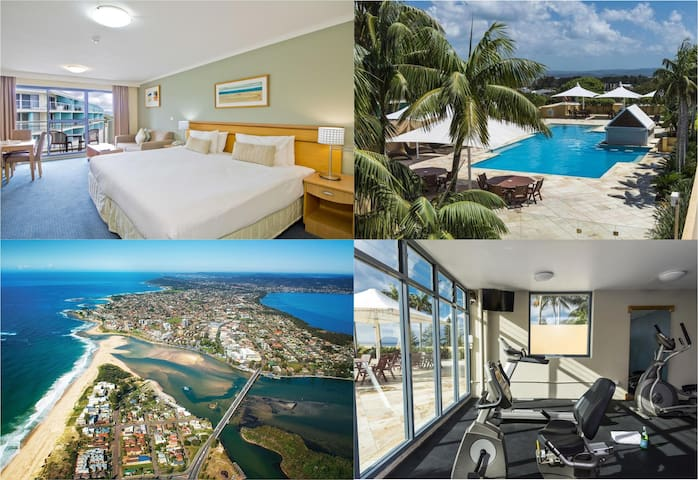Waterfront Apartment! Rooftop Pool, Gym & Spa