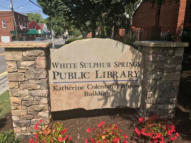 "Next to Manse.  Katherine Johnson was featured in the movie ""Hidden Figures"" and is from White Sulphur Springs. You might run into her!"
