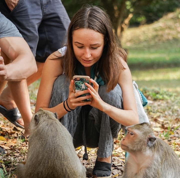 Visit varies things in Angkor park