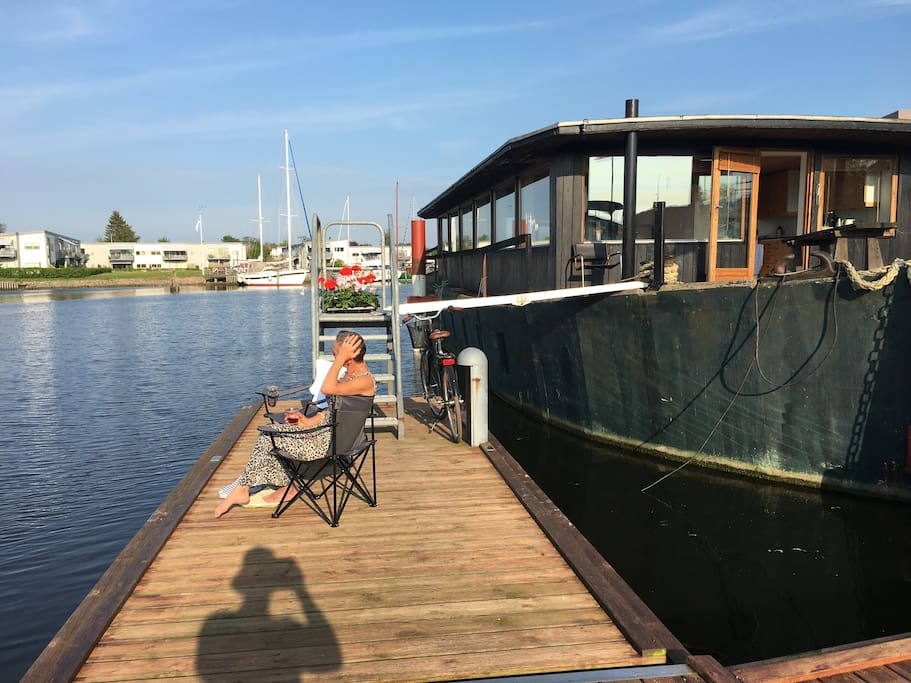 Our private Pier and entrance to Houseboat