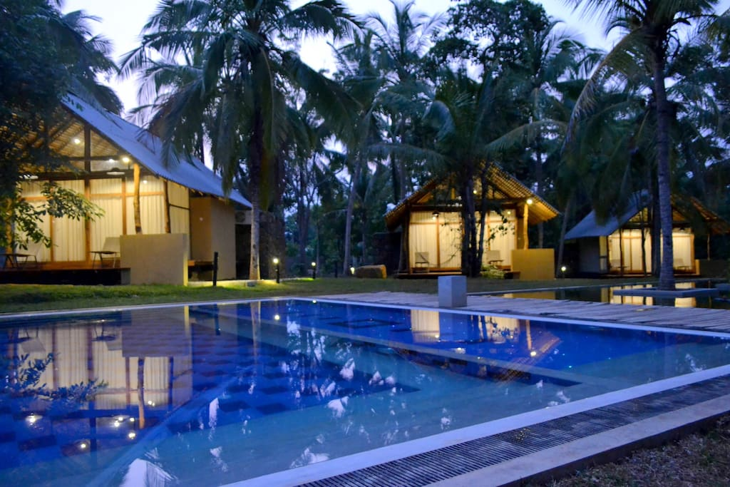 pool view bungalow