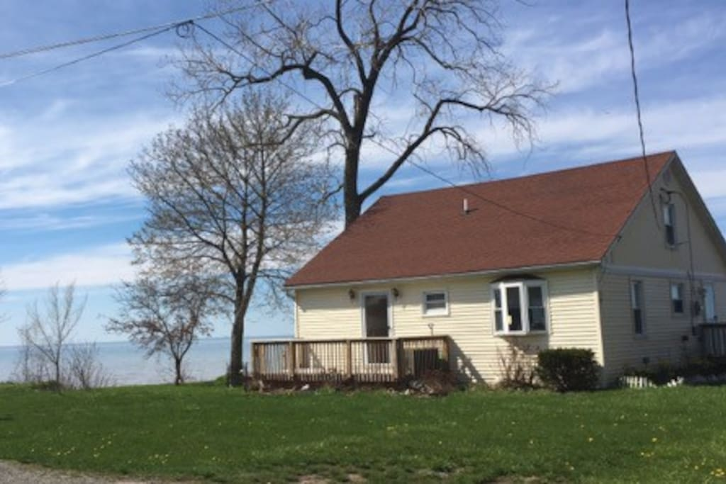 Our nice home is situated directly on the waterfront of Lake Ontario, in Wilson, NY  14172.  It's immaculately clean and quiet, too!
