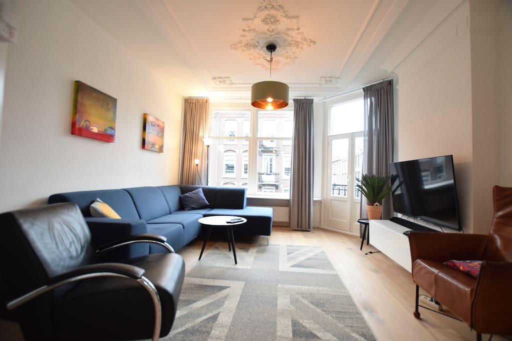The beautiful living room