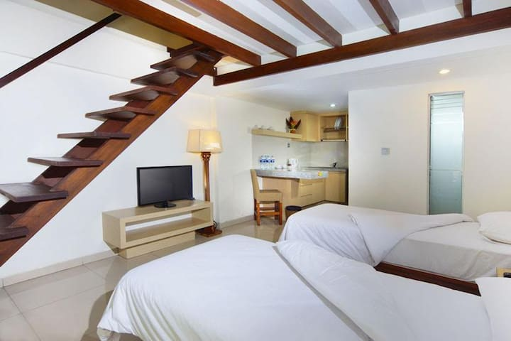 3ROOMS FOR 12GUESTS IN COZY, SWEET,COMFORTABLE BED - Kuta - Loft