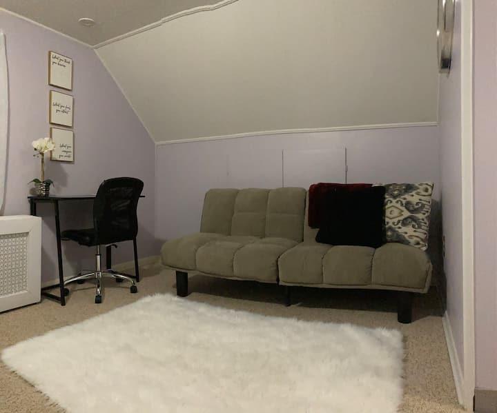Private Room includes Bedroom, Den, & Restroom