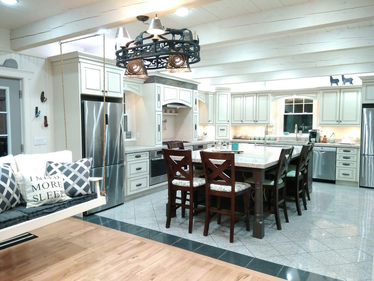 Custom Kitchen, dual ovens, dual dishwashers, gas range, custom pantry