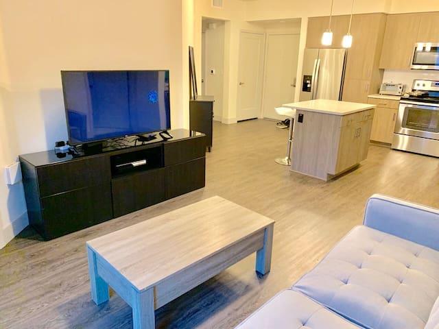 Modern/Luxury 1 Bedroom in a 2 Bedroom w. King Bed