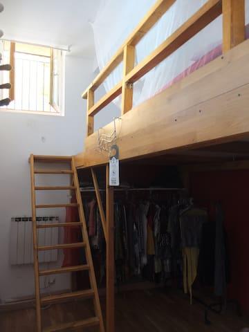 Chambre lit double mezzanine