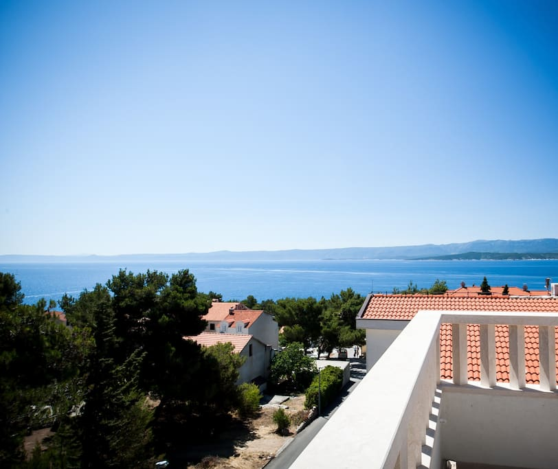 the sea view of island Brac