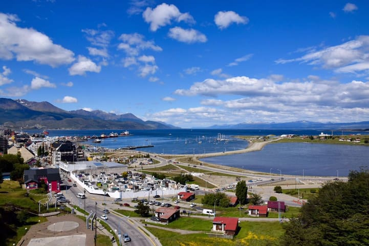 Super view in Ushuaia´s downtown