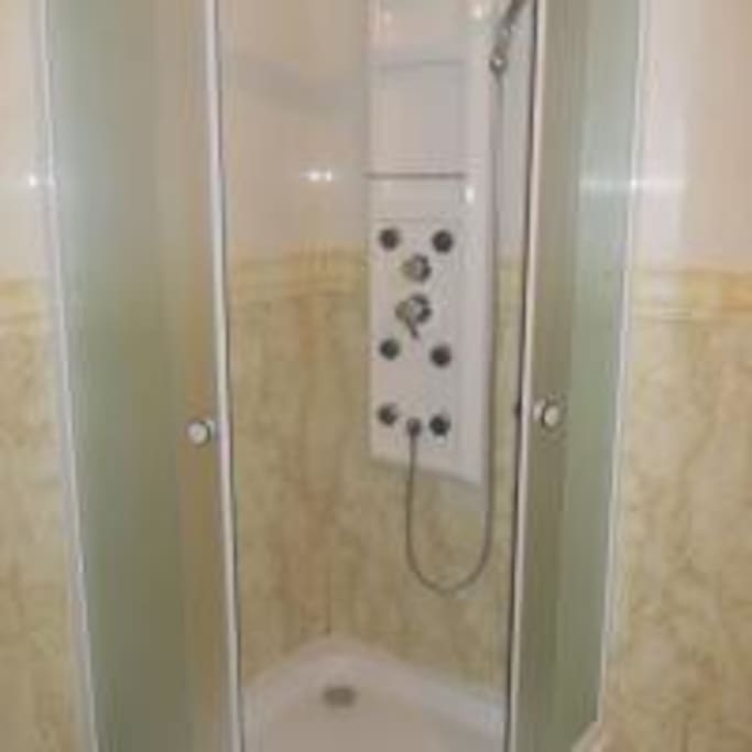shower with massage