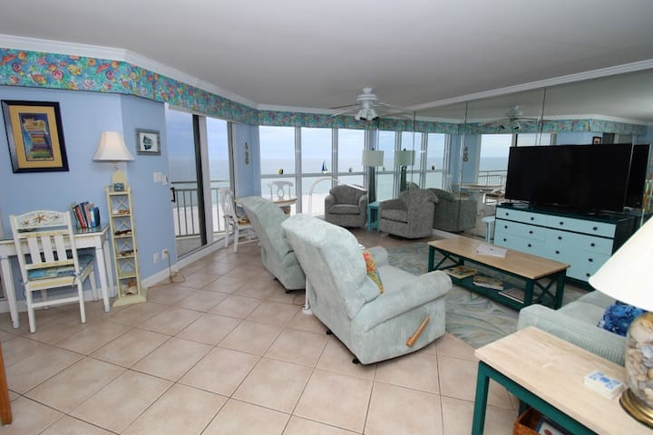 SeaSpray West 603- Beach Front Views from Terrace with Coastal Interior!